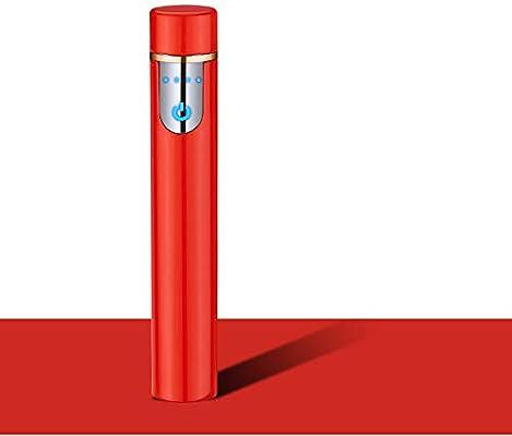 Mechero Eléctrico Mini, Encendedor de Cigarrillos Portátil, Recargable con USB, a Prueba de Viento, Sin Llama, Sensor de Huella Dactilar (Rojo): Amazon.es: Hogar