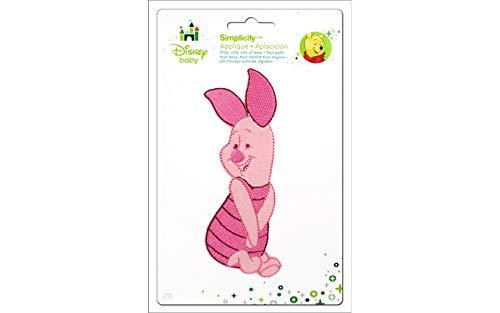 - Wrights Disney Winnie The Pooh Piglet Posing Iron-On Applique