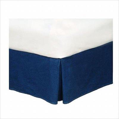 Blue Denim Full Bedskirt - Karin Maki Blue Denim Bedskirt - Full by Karin Maki
