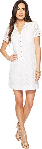 Lilly Pulitzer Women's Nelle Dress Resort White Pop Floral Lace 12