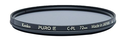 Kenko Puro Wide Angle Slim Ring 72mm multi-Coated Circular Polarizer Filter, Neutral Grey (227259) by Kenko