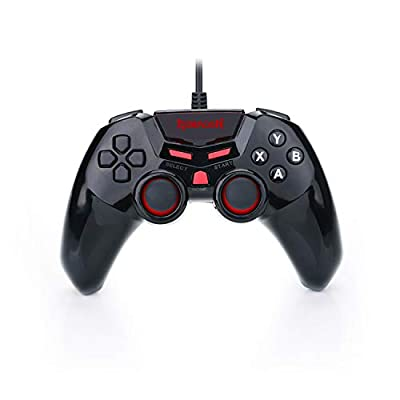 Redragon G807 Gamepad, PC Game Controller, Joystick with Dual Vibration, Saturn, for Windows PC, PS3, Playstation, Android, Xbox 360