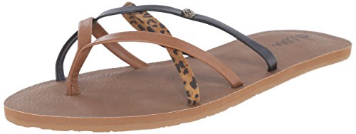 Che School Femme Tongs Léopard Cheetah Multicolore New Volcom PTxHq1W