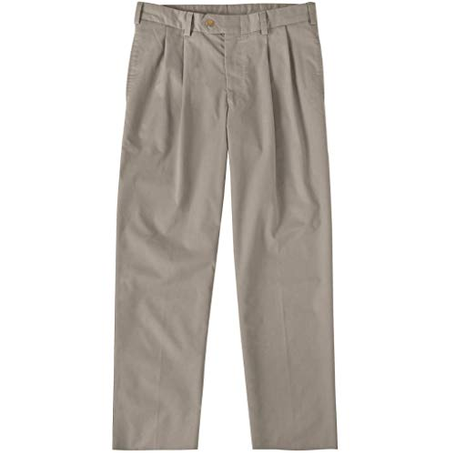 Bill's Khakis Men's M2 Classic Fit Pleated Travel Twill Wrinkle/Stain Resistant Pants, Khaki, 42W x ()