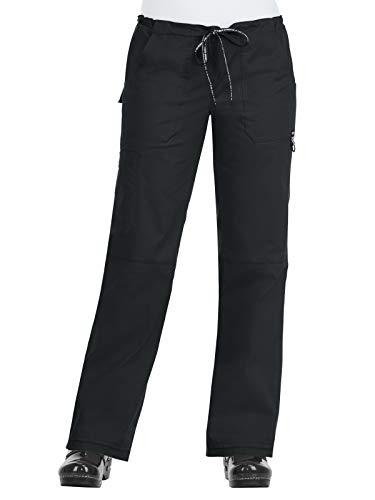 KOI Stretch 733 Women's Stretch Lindsey Scrub Pant 3.0 Black L (Koi Scrubs Lindsey Stretch)