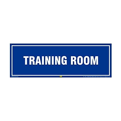 mr safe training room sign sign pvc sticker 12 inch x 4 inch