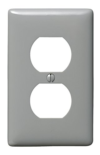 Bryant Electric NP8GY 1-Gang 1-Duplex Nylon Wallplate, Gray ()