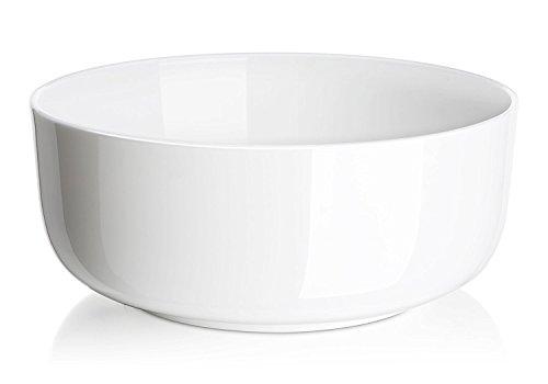 DOWAN 4-Pack Porcelain Serving Bowls, 1-1/2 Quart, White