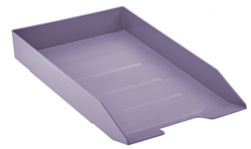 Acrimet Stackable Letter Tray (Solid Purple Color) (1 Unit)