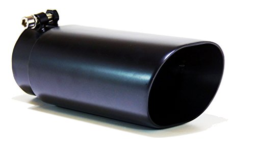 GENSSI Muffler Tip Exhaust Tail Pipe Black (ID: 3