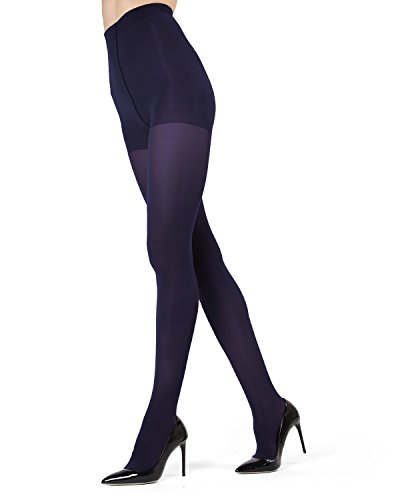 Navy Opaque Tights - 6