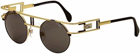Cazal Men's Legends 958 302/SG Gold/Black Sunglasses 46mm