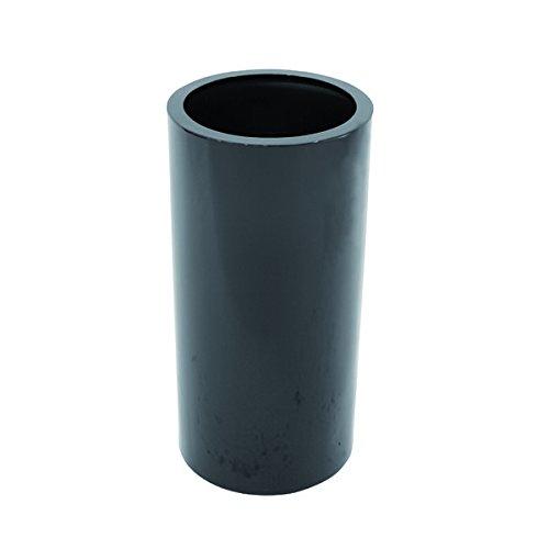Übertopf NANDO, schwarz, glänzend, 80 cm, Ø 38 cm - Blumentopf rund / Pflanztopf - monsterkatz