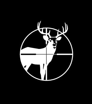 Deer Head Silhouette Animal for Macbook Laptop Car Window SUV Wall Decal Sticker