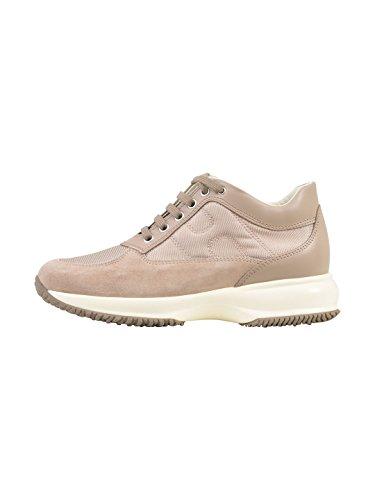 Hogan Dame Hxw00n00e10i8zm024 Beige Leder Sneakers nKVPiQkdXy