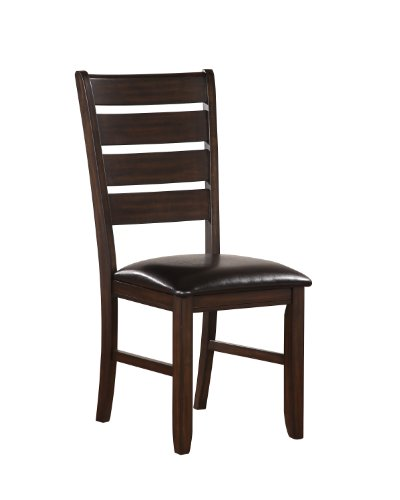 ACME Urbana Side Chair, Espresso Finish, Set of 2