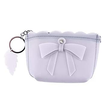 Amazon.com: Candy Color Mini Monedero Bolso Lazo Llavero ...
