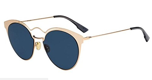 New Christian Dior Nebula 000/A9 Rose Gold/Blue Sunglasses