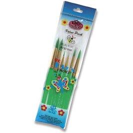 Royal Big Kids Choice Dlx Round Artist Brush Set - Bk606 - 12 Pack