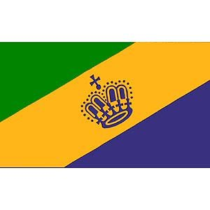 Flag Mardi Gras Poly 3ft X 5ft -