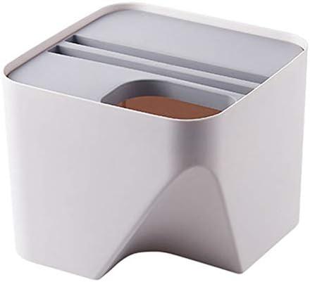 PQZATX キッチンのゴミ箱 積み上げ 仕分けゴミ箱 リサイクル?ビン 家庭用乾湿分離ゴミ箱 バスルームのためのゴミ箱 グレー-S
