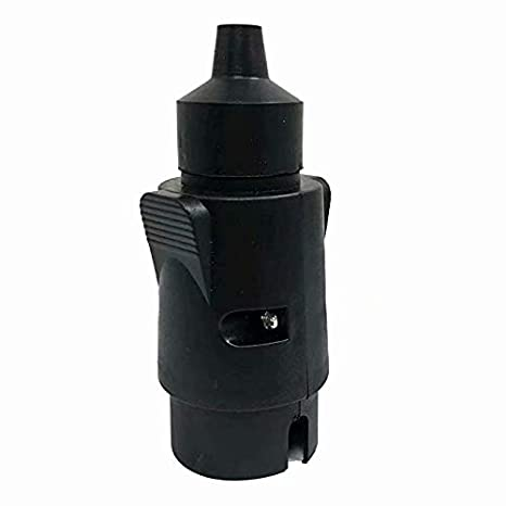 LINSUNG Prise de connexion de remorque /à 7 broches de 12 volts Connecteur de cable de voiture Connecteur rond /à 7 conducteurs de remorque