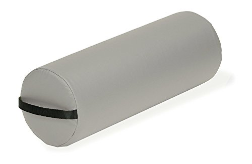Sterling Bolster ( EARTHLITE Durable Jumbo Massage Bolster With Zippered Vinyl Cover and Strap Handle, Sterling, 26 x 9 Inches)