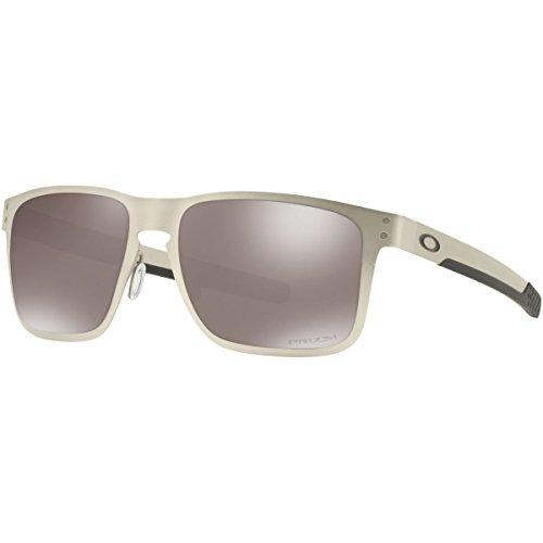 Oakley Men's Metal Man Polarized Square Sunglasses, Satin Chrome, 55 - Oakley Chrome