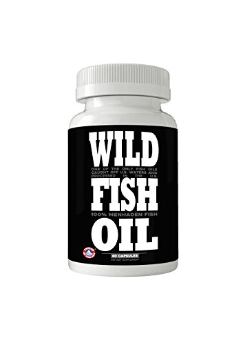 Wild Fish Oil Caps, Sustainable Omega-3 DPA/EPA/DHA Oil Supplement, Friends of The Sea Certified, Ultra-Premium Burp-Less Formulation, Harvested From U.S. Waters (60x 1000mg Caps)