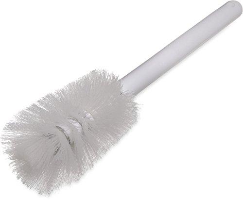 - Carlisle 4046600 Sparta Pint Bottle Brush, White Plastic Handle, White Polyester Bristles, 4-1/2