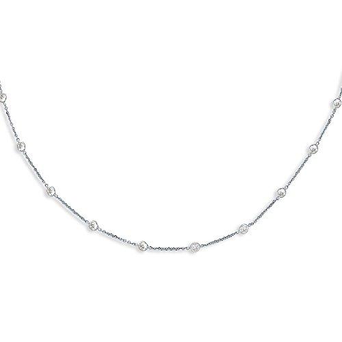 """14 carats avec diamants CZ au mètre-JewelryWeb 7 """""""