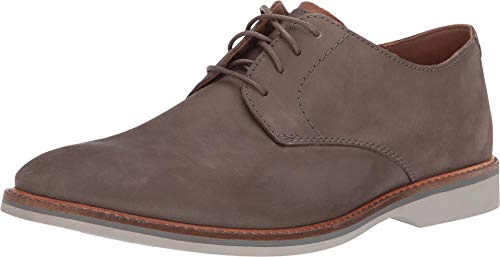 Mens Nubuck Shoes - CLARKS Atticus Lace Mens Oxfords Grey Nubuck 10.5