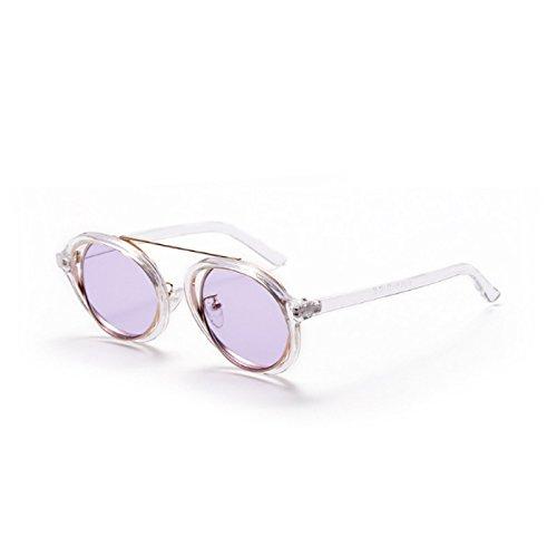 Sol TIANLIANG04 Gafas De Gafas De C2 C4 Uv419 G Alta Sol Mujeres Transparente Ronda Señoras Vintage Tonos Purple De Lente Gafas Claro Sexy Ronda Calidad rpEEwOx