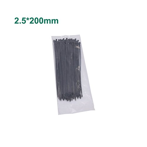 100pcs 8 inch Nylon Cable Tie 2.5mm Width Self Locking Plast
