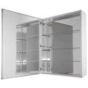 15 In X 26 In Recessed Or Surface Mount Medicine Cabinet In Beveled Mirror Home