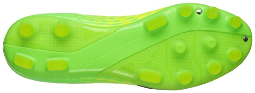 Puma Mens evoSPEED 17.2 AG Soccer Shoe Safety Yellow/Puma Black/Green Gecko
