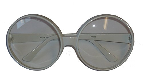 SGPOPST/28 (Wh/Clear) 70's Round Glasses