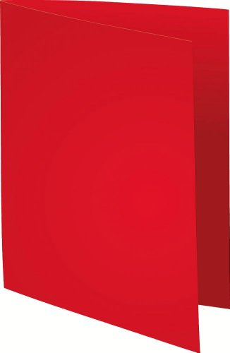 Exacompta 410012E Aktendeckeln Packung, 100 Stück, aus Recycling Karton 250 g, foldyne forever, Din A4, rot