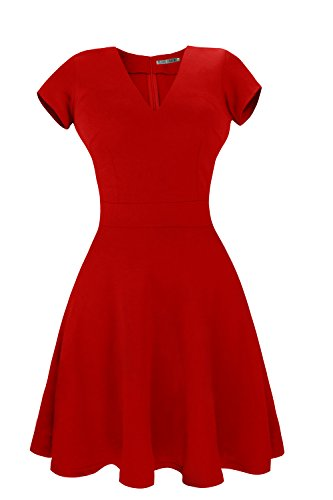 fashion dress red - 8