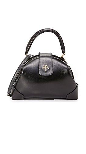 MANU Atelier Women's Demi Top Handle Bag, Black, One (Demi Satchel Bag)