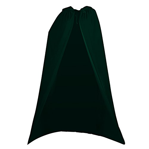 Acediscoball Women's Velvet Cape with Hood Halloween Witch Costume Cloak,Black,One Size]()