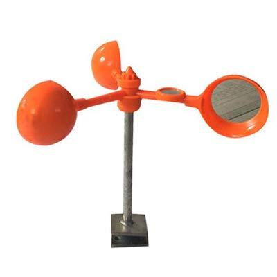 WHISM 360 Degree orange Garden Bird Repellent Wind Power Lens Type Scarer Bird Scare Anti-Bird Vegetable Crops Predection Tools   L