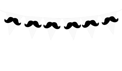 mustache party streamer - 5