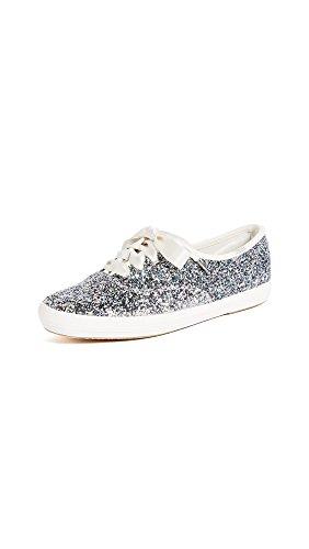 Keds Women's x Kate Spade New York Glitter Sneakers, Glitter, 7 B(M) US Silver Spade