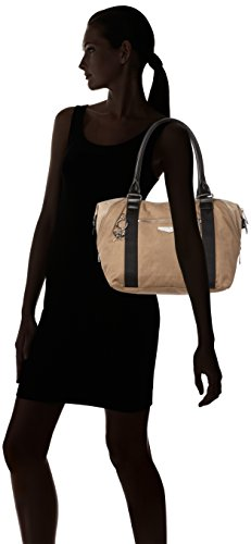 Kipling Handle Kc Beige Bag Beige Lght Womens Blck Top Art S 6qwn4Z6r