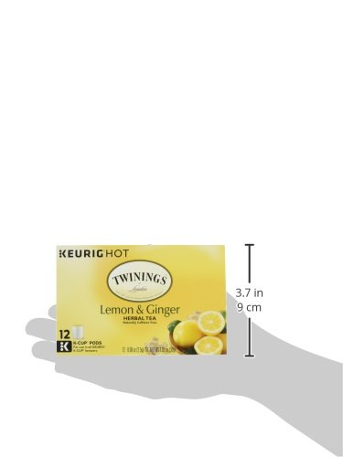 Twinings of London Lemon & Ginger Herbal Tea K-Cups for Keurig, 12 Count (Pack of 6) by Twinings (Image #10)