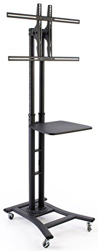 mobile tv stand for 37 to 70 inch flat screen monitor. Black Bedroom Furniture Sets. Home Design Ideas
