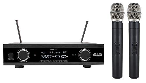 CAD Audio GXLD2HHAH Digital Dual Wireless Handheld System with CADLive D38 Capsule, AH Frequency Band