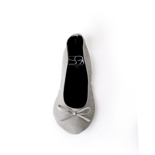 Inconnu disponibles ruban couleurs en Chaussures Ballerines mat femme jusqu'à dans gris tailles EU avec les pliables 38 rvrSzW