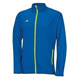 adidas Golf Men\'s Puremotion Wind Jacket, Bright Royal/Solar Slime, Large